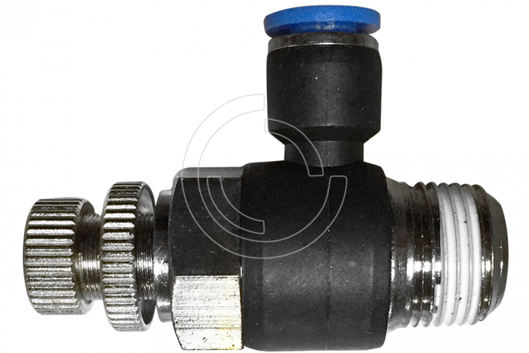 Pneumatic flow control valve (JSC) Ø 10mm with thread BSPT R1/4""