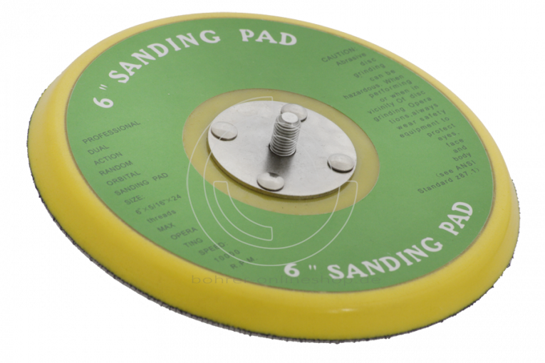 """Sander pad 150mm with hook-and-loop and 5/16"""" thread"""