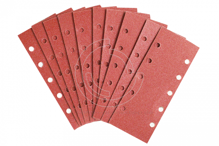 10x sanding sheets with hook-and-loop 93mmx230mm 10-holes grit 240