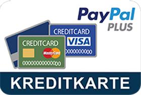 Pay by credit card at PayPal. If you pay by credit card, you will be directed to the Paypal website as usual during the payment process. There you can then select your credit card.